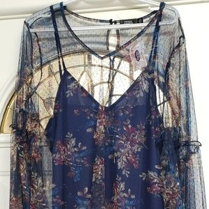 XL new with tags 2 piece blue dress